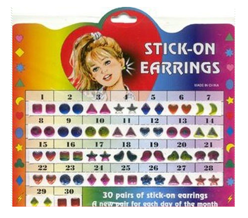 sticker earring
